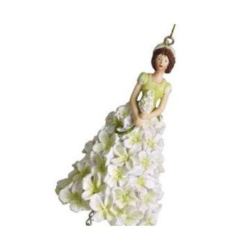 Fehér orgona viráglány  függeszthető dekor