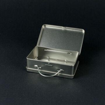 Ezüst bőrönd lemezből - kicsi