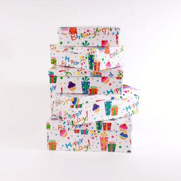 Dobozban doboz -Tréfás születésnapi doboz szett - 5 darabos