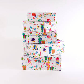 Dobozban doboz Tréfás születésnapi doboz szett  5 darabos