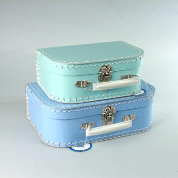 Kék bőrönd szett 2db