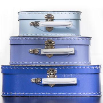Kék bőröndszett - 3 darabos