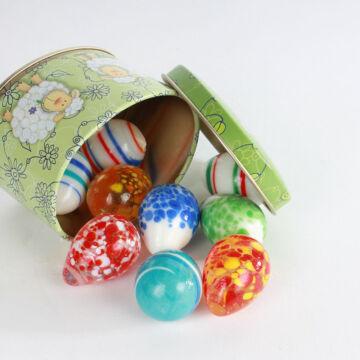 Dekor üveg tojás
