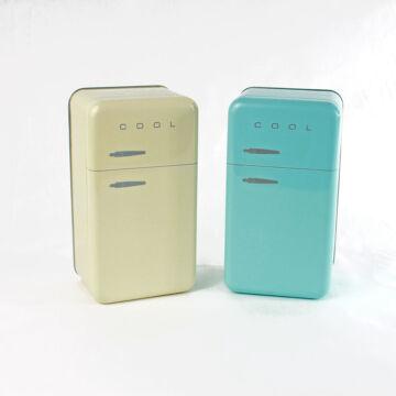 Retro hűtőszekrény - fém tárolódoboz