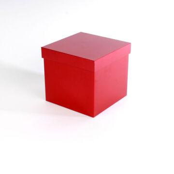 Piros kocka  fém ajándékdoboz