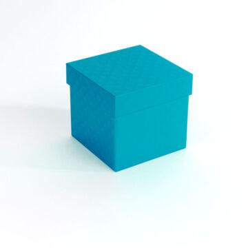 Kék kocka  fém doboz