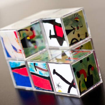 Miró  művészeti kockakirakó