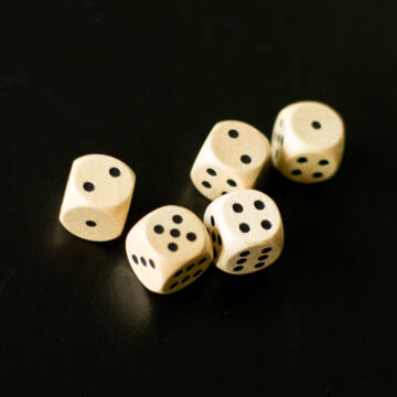 Dice - nature wood 1,8cm -1pc