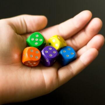 Colorful dice set - 5 pcs