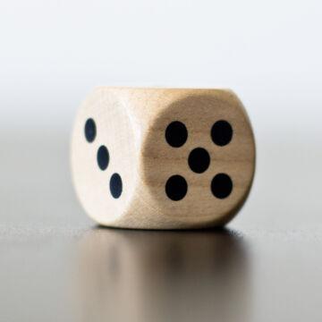 Dobókocka fából 2,5 cm