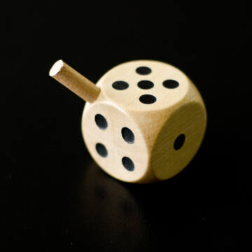 Dice with handle
