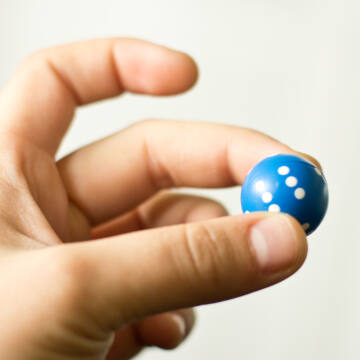 Dice ball for boardgames