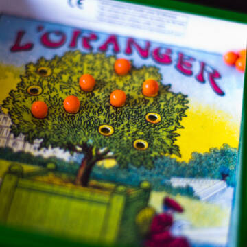 Narancsliget - kézzel készített türelemjáték