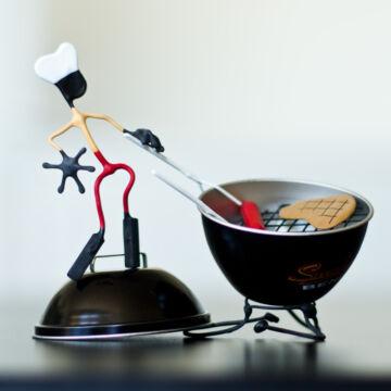 Grill készlet   mágneses hajlítható drótfigurák  MOST AKCIÓBAN