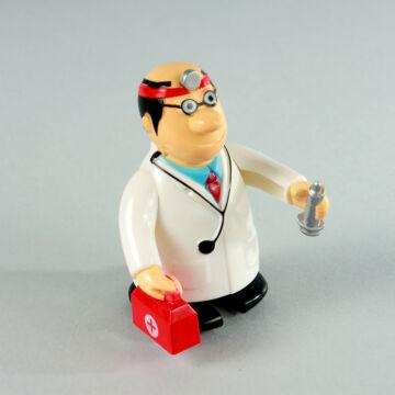Lépegető orvos műanyag figura