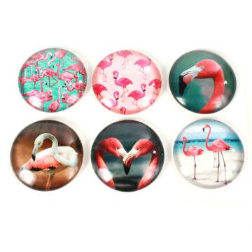 Hűtőmágnes flamingós képpel