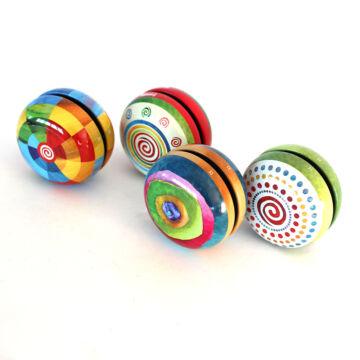 Coloured tin yoyo