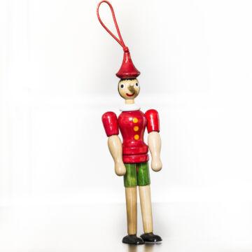 Pinokkió  20 cm  fabábú