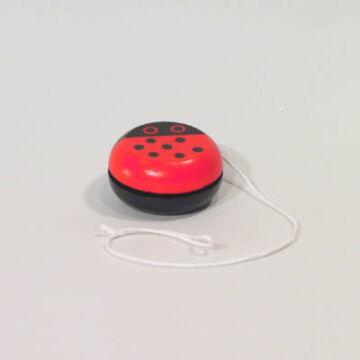 Wooden yo-yo with Ladybird motive