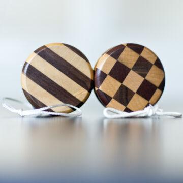 Inlaid wooden yo-yo