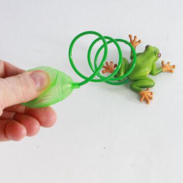 Pumpás béka  nosztalgia játék műanyagból