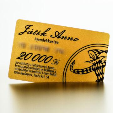 JATEKANNO KARTYA20000
