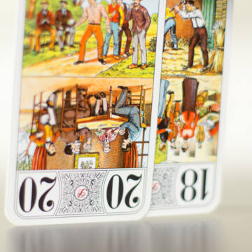TAROT  kártya 1824-es hasonmás