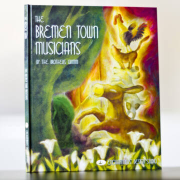 Bremen town musicians Grimm tale book in English