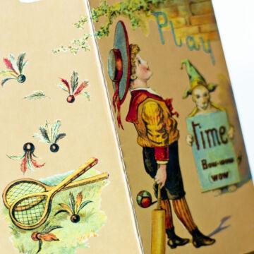 PLAY TIME ( Idő van, játék játék )  mini történet, mini könyvben angolul
