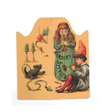 Nursery Dittes  (Angol Óvodai dalocskák )  mini történet, mini könyvecskében