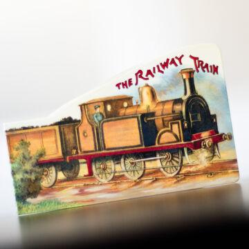 Vonat  - angol térbeli mini könyv