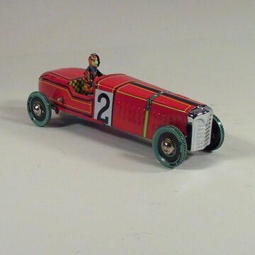 Bugatti lemez versenyautó - Paya 1930-as modell hasonmása