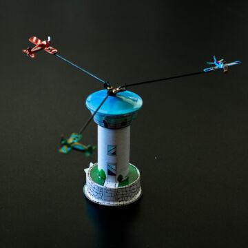 Repülőgép irányítótorony  lemez körhinta