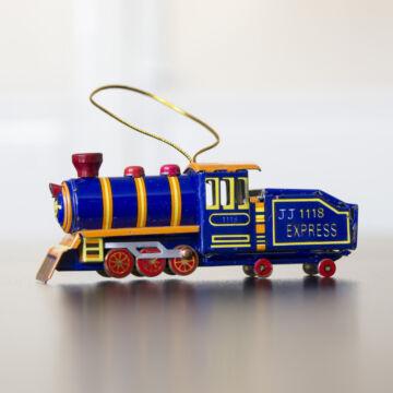 Kék Kis Mozdony - akasztható dekoráció 9cm