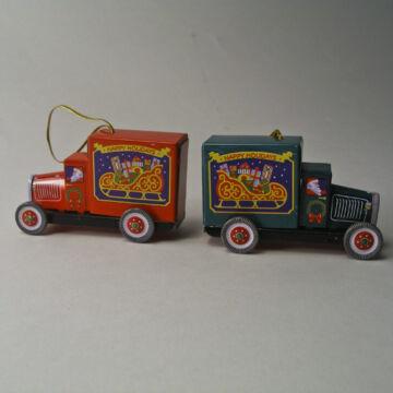 Karácsonyi furgon - függeszthető dekoráció lemezből