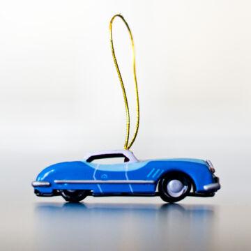 Autó - Kék Sedan - akasztható dekoráció