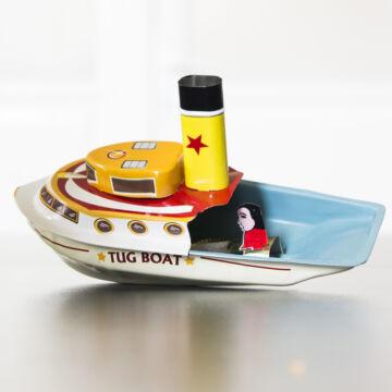 Sárga Komp  propulziós hajó  gyertyás csónak lemezből