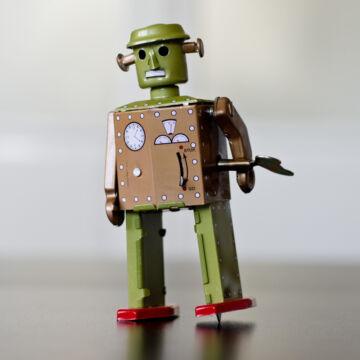 Atomic robotember hasonmás lemezjáték