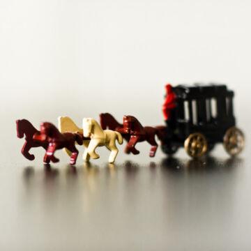 Amerikai hatlovas postakocsi  miniatűr hasonmás