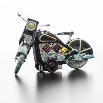 Motorkerékpár fekete  lemezjáték