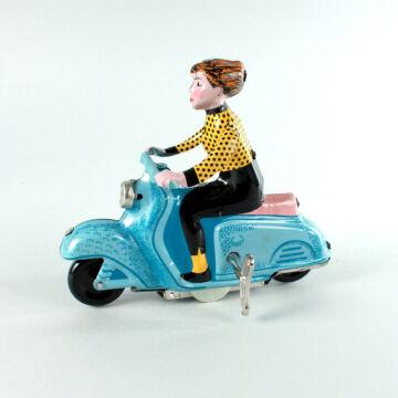 Kék robogós lány pettyes ruhában hasonmás lemezjáték