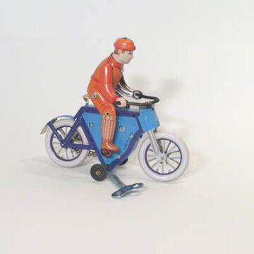 Kék Kerékpáros   német hasonmás lemezjáték 1915ös modell