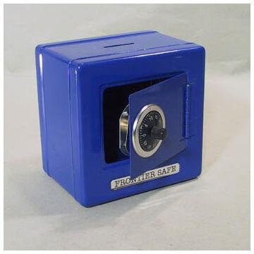 Kék számzáras széf - lemezpersely fedelén  bedobó nyílással