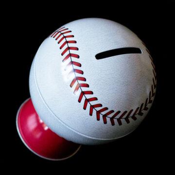 Baseball labda lemez persely