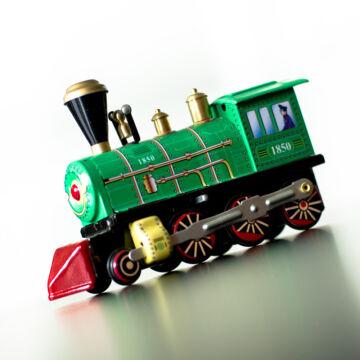 Zöld Mozdony - 1935-ös modell hasonmása felhúzhatós lemezjáték