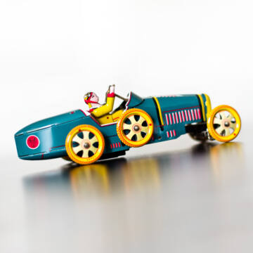 Bugatti - Paya hasonmás- lemez versenyautó