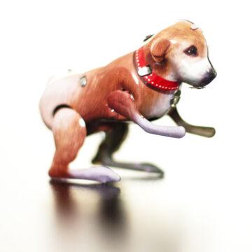 Ugráló kutya  Lemezjáték állat PAYA HASONMAS