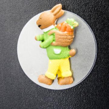 Nyuszi mini hűtőmágnes  húsvéti dekoráció  sárgarépás már elfogyott