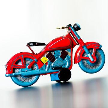 Vörös motorkerékpár  hasonmás lemezjáték