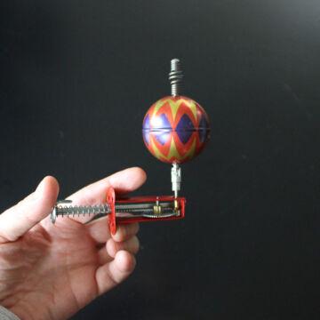 Ballon pörgettyű hasonmás lemezjáték - szerkezetes felhúzóval